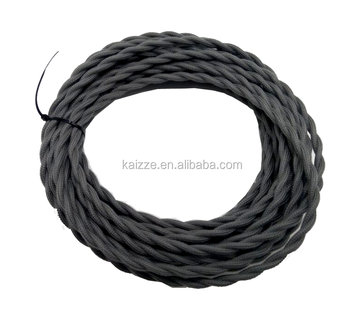 25 ft Vintage Lamp Cord Antique Silks Cotton Cloth Covered Twisted Electrical <strong>Wire</strong>