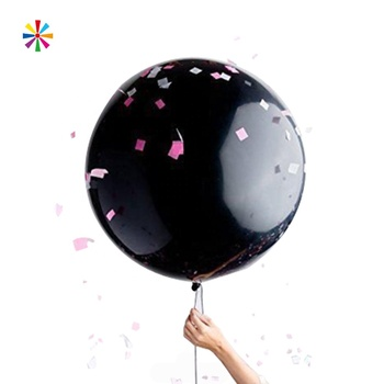 Giant Black Color boy or girl Gender Reveal Balloon Set Decoration
