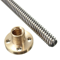 Fast-Travel Precision Acme Thread Lead Screw 8mm
