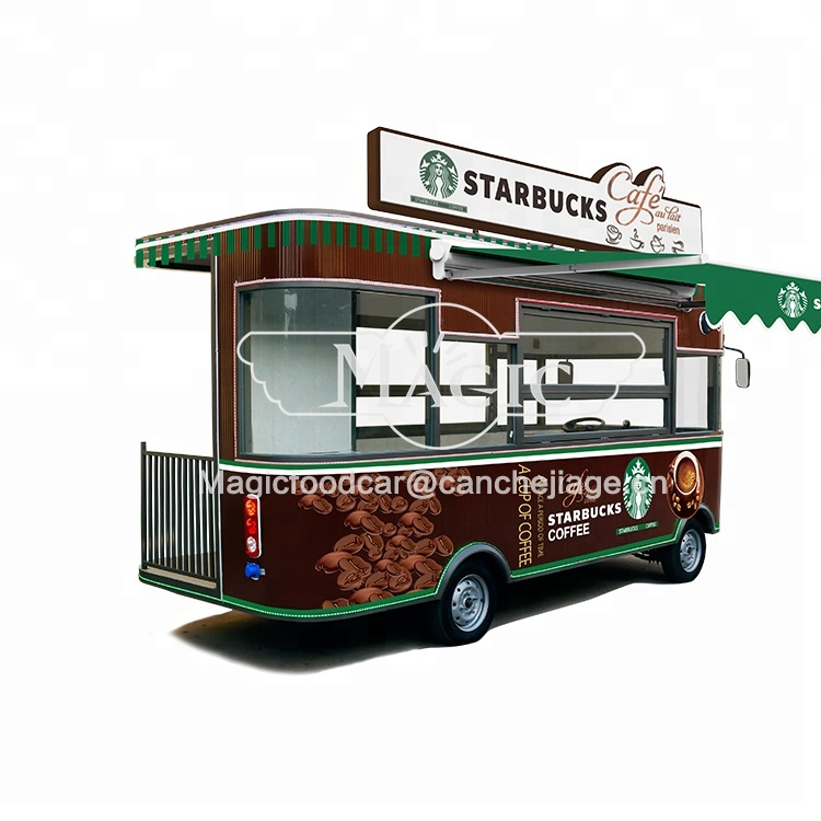 customers favorite cheep electric dining car/mobile breakfast food carts mobile coffee car for sale