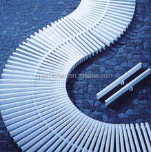One hole PVC material swimming pool overflow grating gutter grates for sale