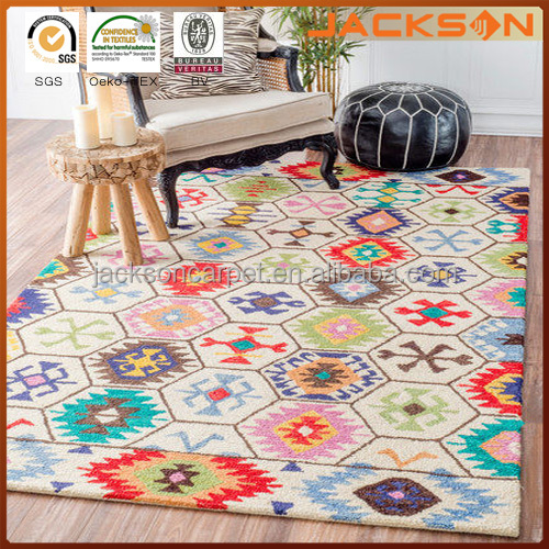 Southwestern Abstract Honeycomb Cream Rug