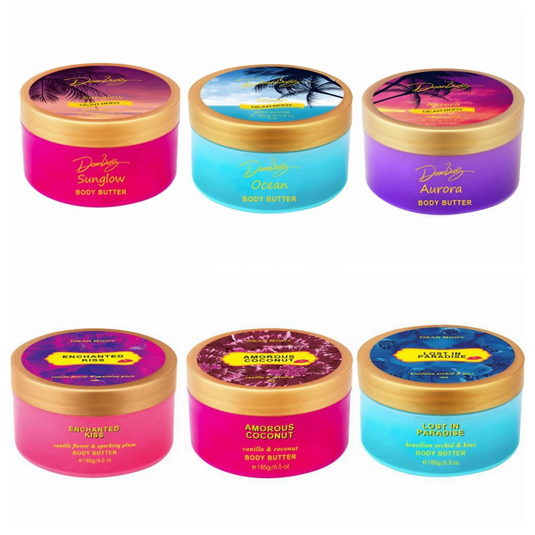 185g dear body brand private label natural black skin whitening body butter wholesale