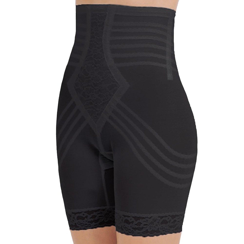 5c56abec87 Get Quotations · Rago Shapewear High-Waist Long Leg Pantie Girdle Style  6209 - Black - Large
