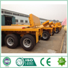 3 axles 20ft 40ft container platform flatbed semi trailer/truck trailer/shipping container trailers for sale