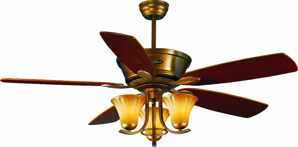 52 Quot Ceiling Fan With Light In Bronze Finish With 5 Pieces