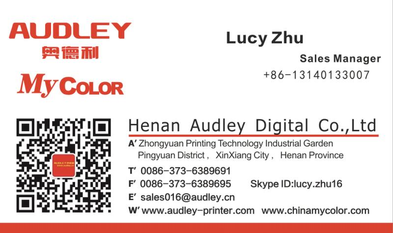 Audley inkjet flatbed 1390 head digital direct to garment dtg printer a4 flatbed printer for t-shirt printing machine price