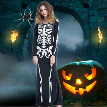 The couple skeleton dress for Halloween cosplay costume
