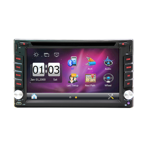 6.2 inch Universal 2 DIN car dvd player with Bluetooth USB Radio audio
