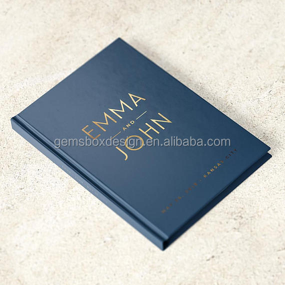 foil metallic foil personalized Wedding Guest <strong>Book</strong>
