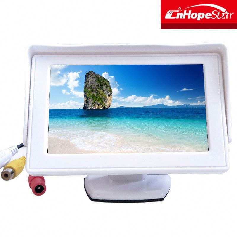 desktop stand 4.3 inch car lcd monitor works perfectly with car rearview cameras