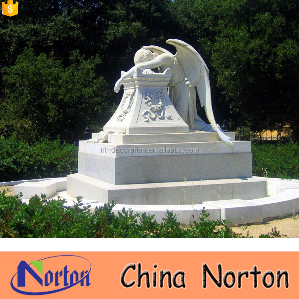 Wholesale cheap granite weeping angel monument NTGT-423A