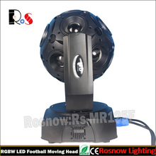12pcs football disco light with LCD display DMX512 control led mini moving head light for for club rotate decoration equipment