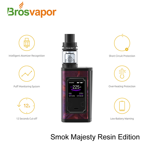Brosvapor Supplier Wholesale Electronic Cigarette 225W SMOK Majesty Kit with TFV8 X-Baby Tank in stock