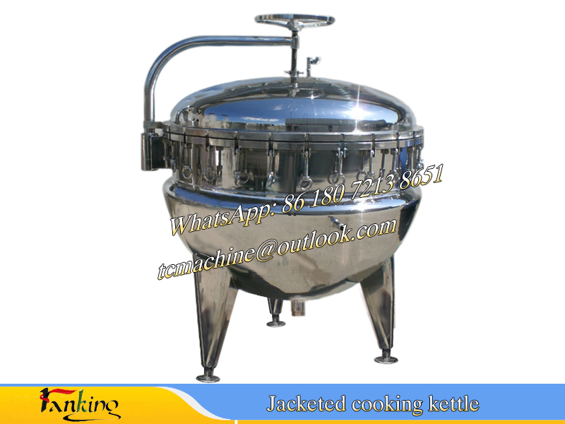 stainless steel pressure cooking kettle high pressure cooking pot /jacketed cooking vat / cookin gpan