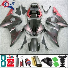 Matte Black red flame 2006 2007 2008 2009 R6S fairing For yamaha YZF R6 2003 2005 2004 Fairing