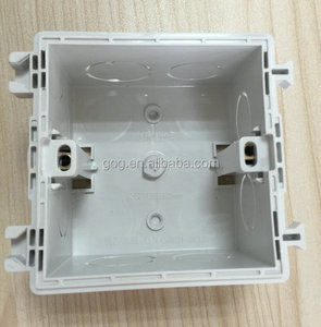 BS4662 standard electrical junction wall mount light switch box with holes for steel conduit