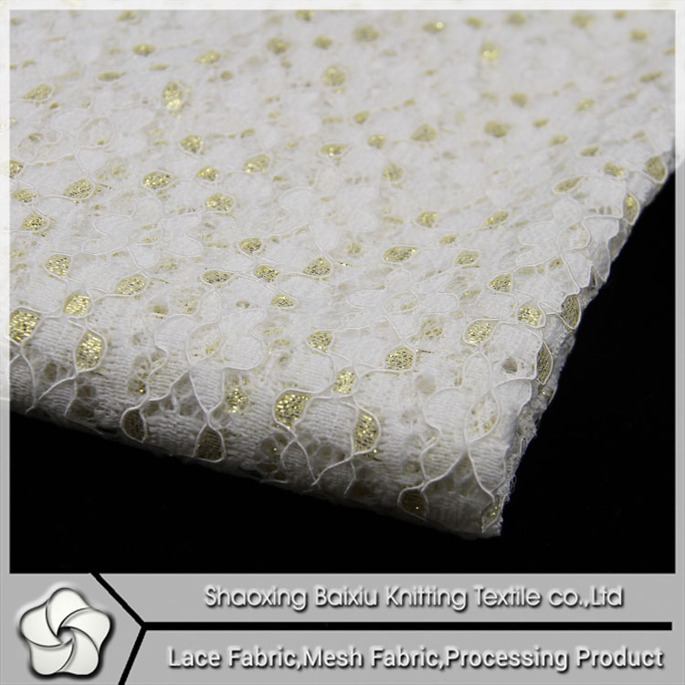 Guipure swiss filtex lace fabric stoking