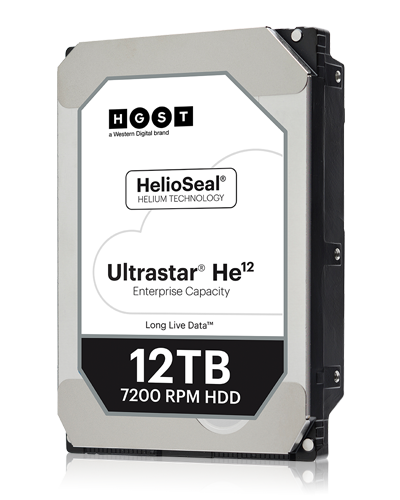 HGST Ultrastar He12 12TB Internal Hard Drive 7200 RPM 3.5 SATA 6.0Gb/s 256M