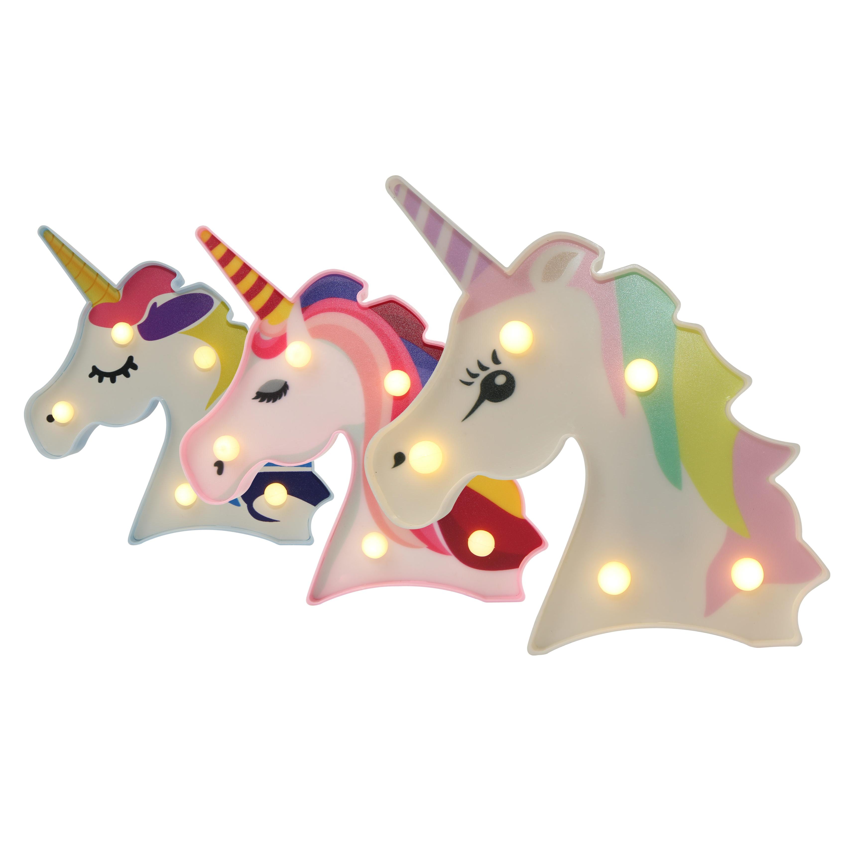 Liangliang Mini LED Night Light Battery Operated Colorful Unicorn Light