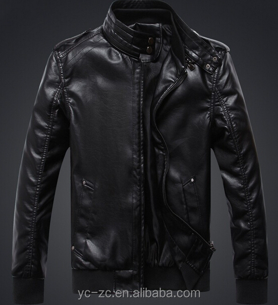 windbreaker punk slim fit leather jacket