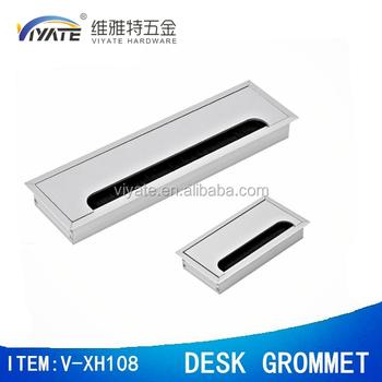 Hot Computer Desk Grommet Aluminum Rectangular With Brush