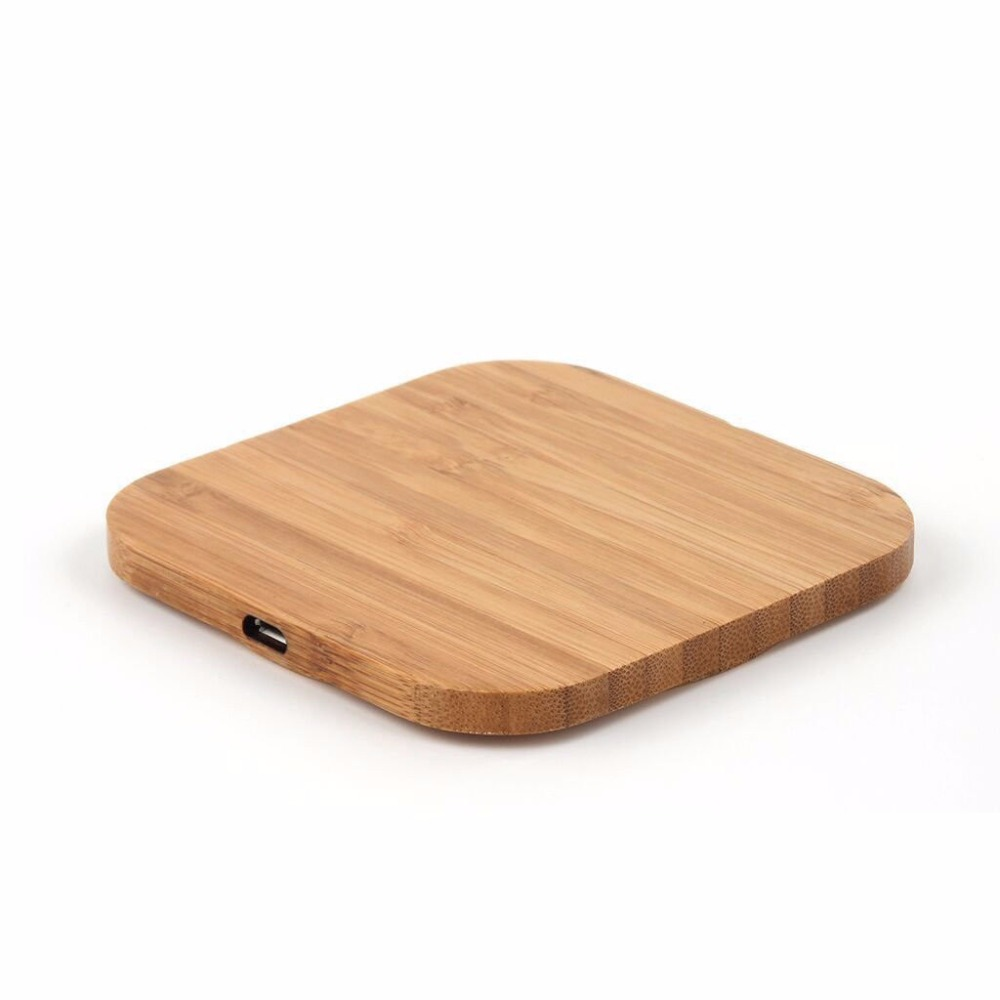 2019 Hot Wood+Metal Wireless Mobile Phone Charger Quick Charge Qi Certified Fast Universal