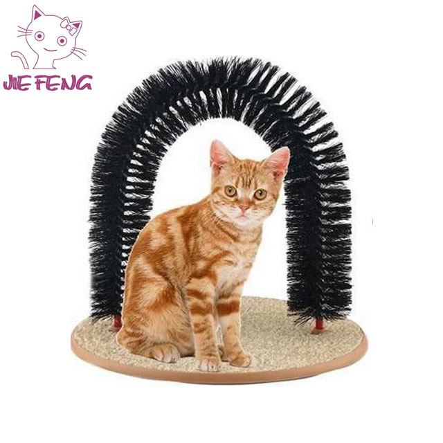 Cat Arch Massager Self Groomer Carpet Scratching Base cat Toy