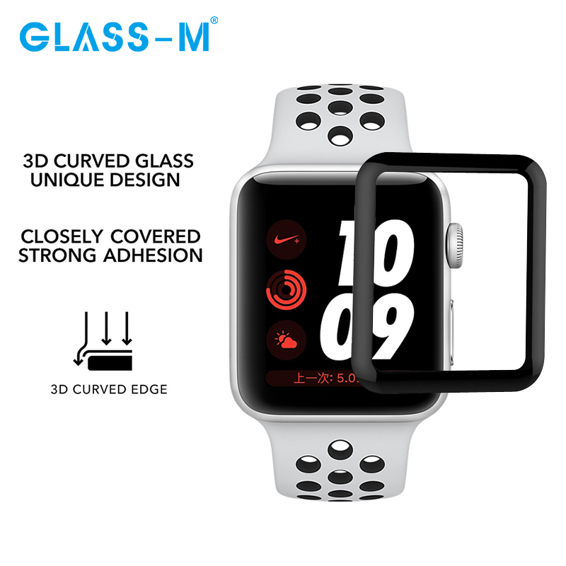 GLASS-M 3D Full Cover Smart Watch Displayschutzfolie aus gehärtetem Glas