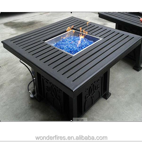 fogata al aire libre patio llama mesa muebles propano gas natural fogones de exteriores. Black Bedroom Furniture Sets. Home Design Ideas
