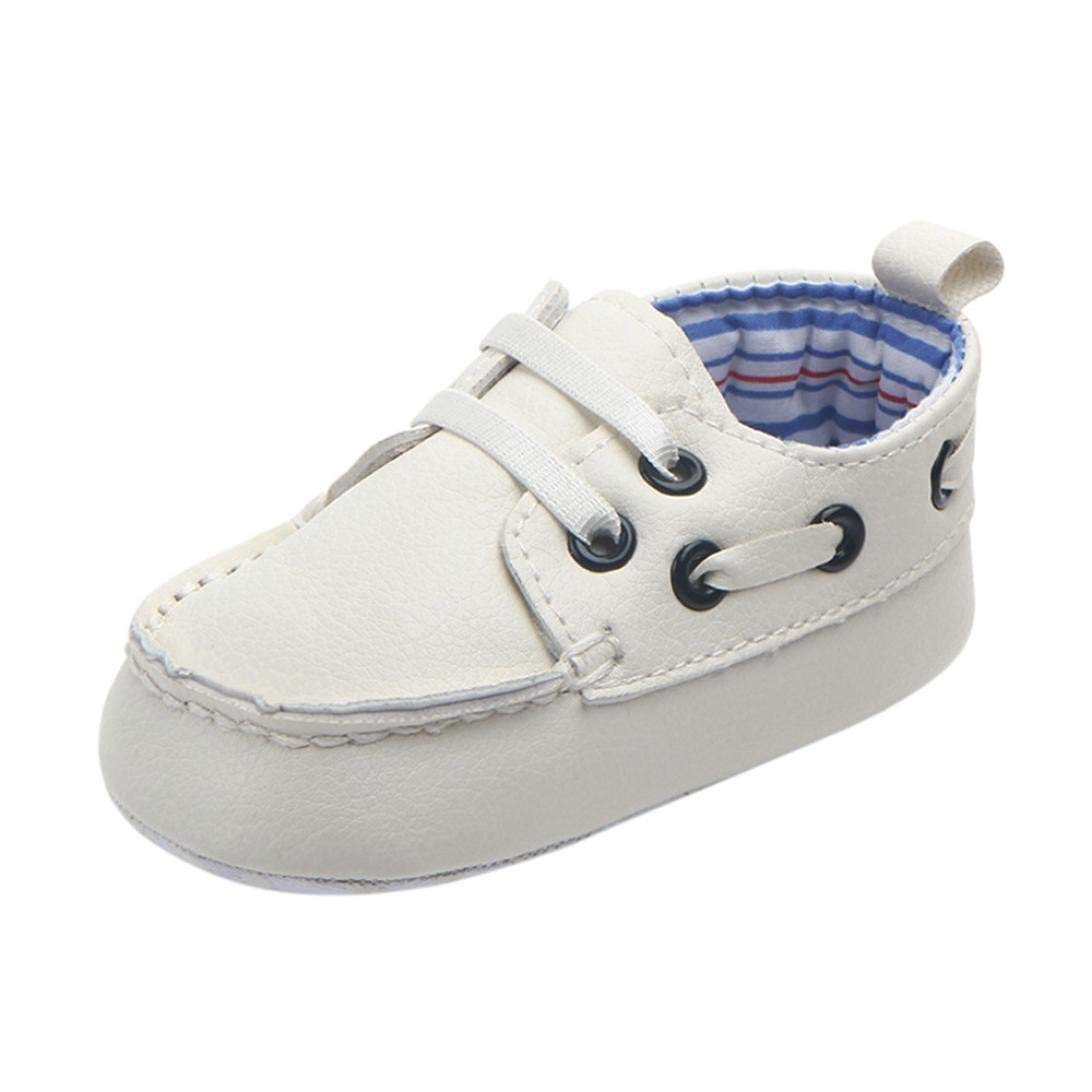 b5245eac01d1 Get Quotations · Voberry Newborn Baby Boy Girl Leather Crib Shoes Toddler Soft  Sole Sneakers