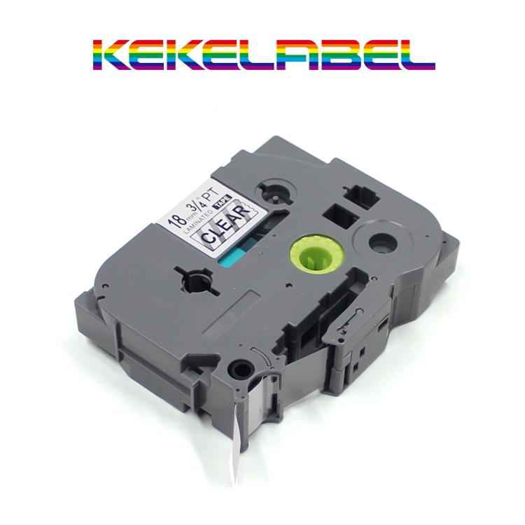 18mm Black On White Flexible Tape Ink Cartridge Cassette Compatib