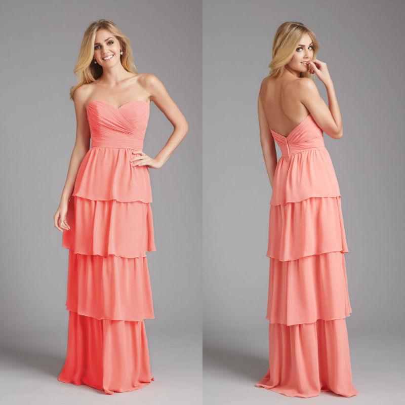 vestidos de gala dress party evening elegant sweetheart tiered chiffon long evening gown 2014. Black Bedroom Furniture Sets. Home Design Ideas