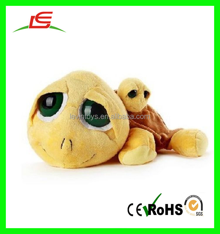 New design promotion wholesale green cute big eyes turtles stuffed plush toys