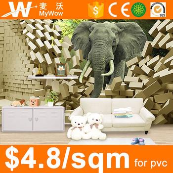 Sw 3056 Efeito 3d Projeto Do Elefante Dos Desenhos Animados