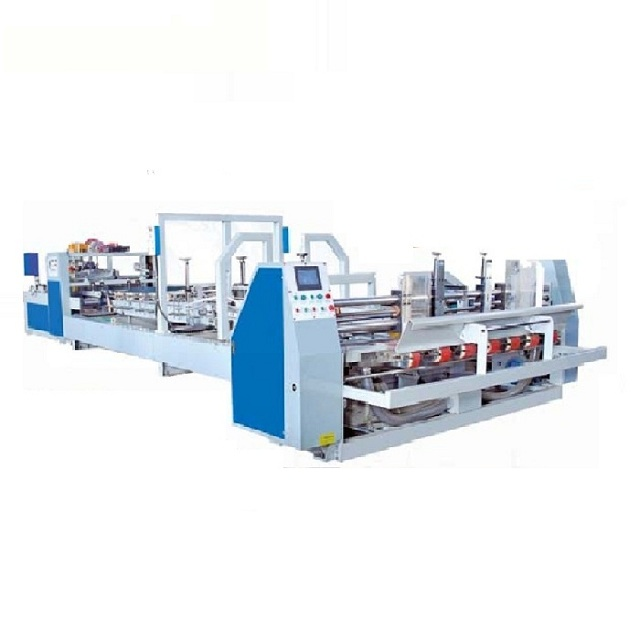 MJZXJ-1 carton box packing machine folding gluer/automatic folder glue corrugated box making machine