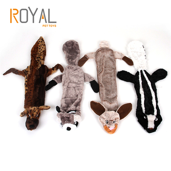Pet Toy Cute Wolf Stuffed Squeaking Plush Rabbit Honking Squirrel for Dogs Chew Squeaker Squeaky Dog Toys