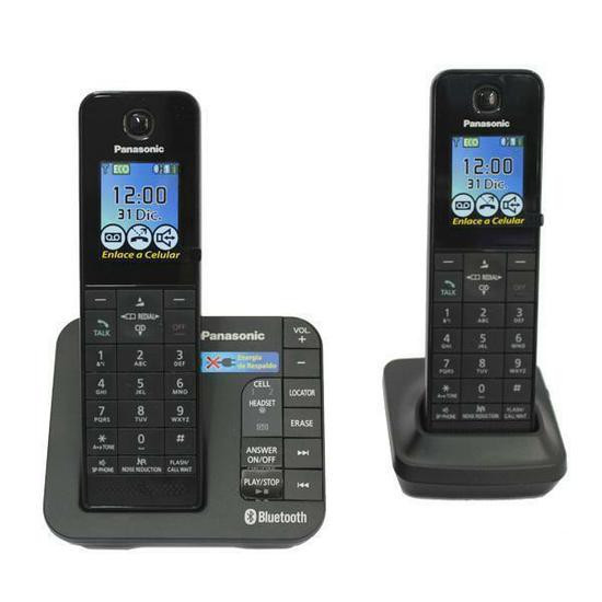 Panasonic KX-TGH262B Link to Cell DECT 6.0 Expandable Cordless Phone System with Digital Answering System