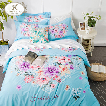 532bd384e2 China Manufacturer 3d Printing Flower Luxury Home Bed Sheet Set ...