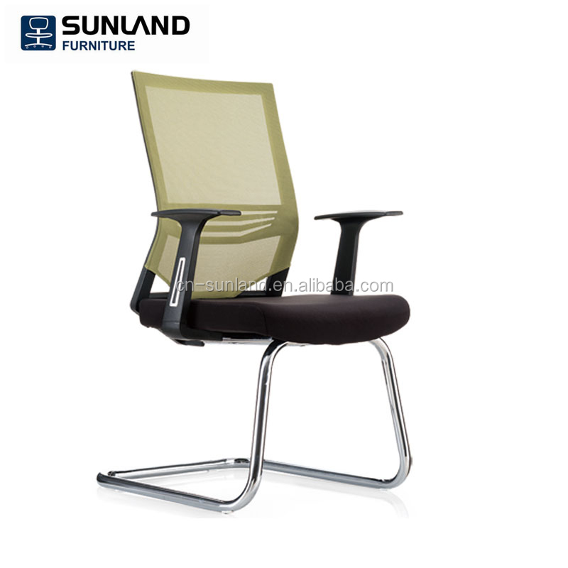 High performance full mesh back conference office chair no wheels