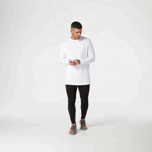 Wholesale O-neck blank white customised t-shirts for men