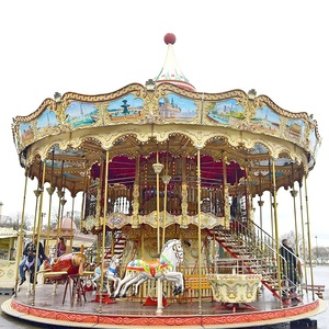Beston kids entertainment equipment newest products 2018 double deck carousel