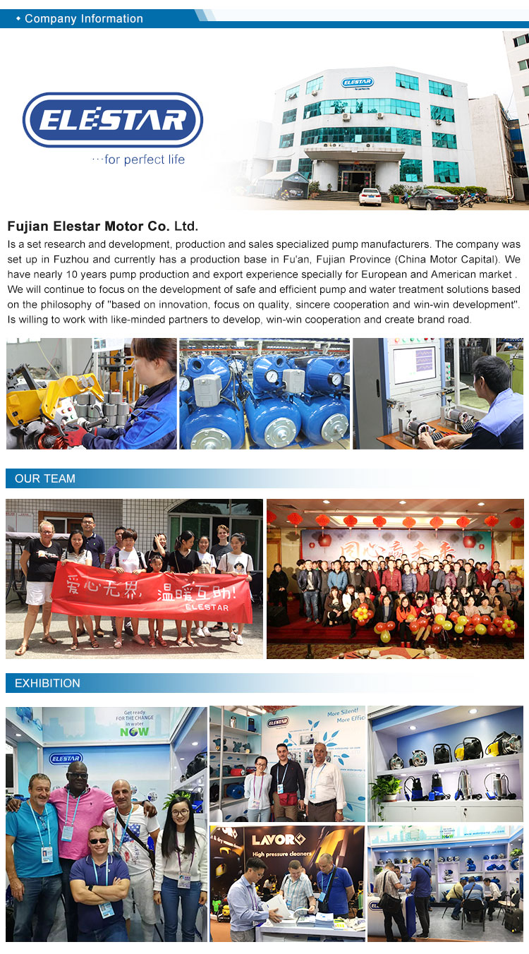 2 ELESTAR MH series Multi stage pipeline centrifugal pump
