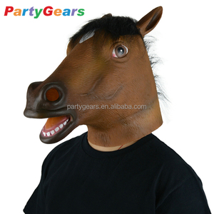 Christmas Masquerade Rubber Horse Head Latex Mask For Sale