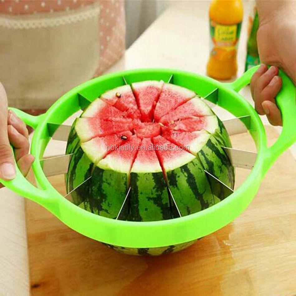 Coupeur de Pastèque Couper Le Melon Fruit Diviseurs De Trancheur Melon Slicer