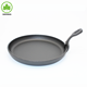 Round Sizzler Plate Nonstick Skillet Sizzling Cast Iron Sizzling Plate With Wooden Tray