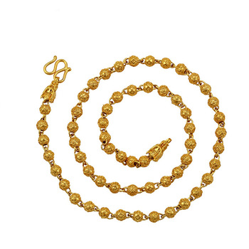 xuping jewelry 24k gold cheap fashion round bead dubai's best-selling men's necklace