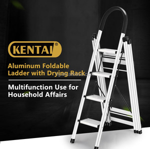 KENTAI easy movable aluminum folding stairs 4 steps B50