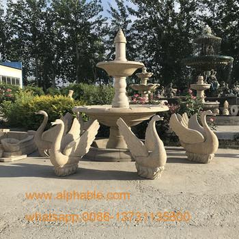 Décoration De Jardin En Pierre Naturelle Sculpté Cygne Statue ...