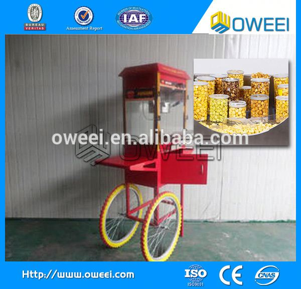 Stainless steel Sweet popcorn machine sale / popcorn vending machine with best price
